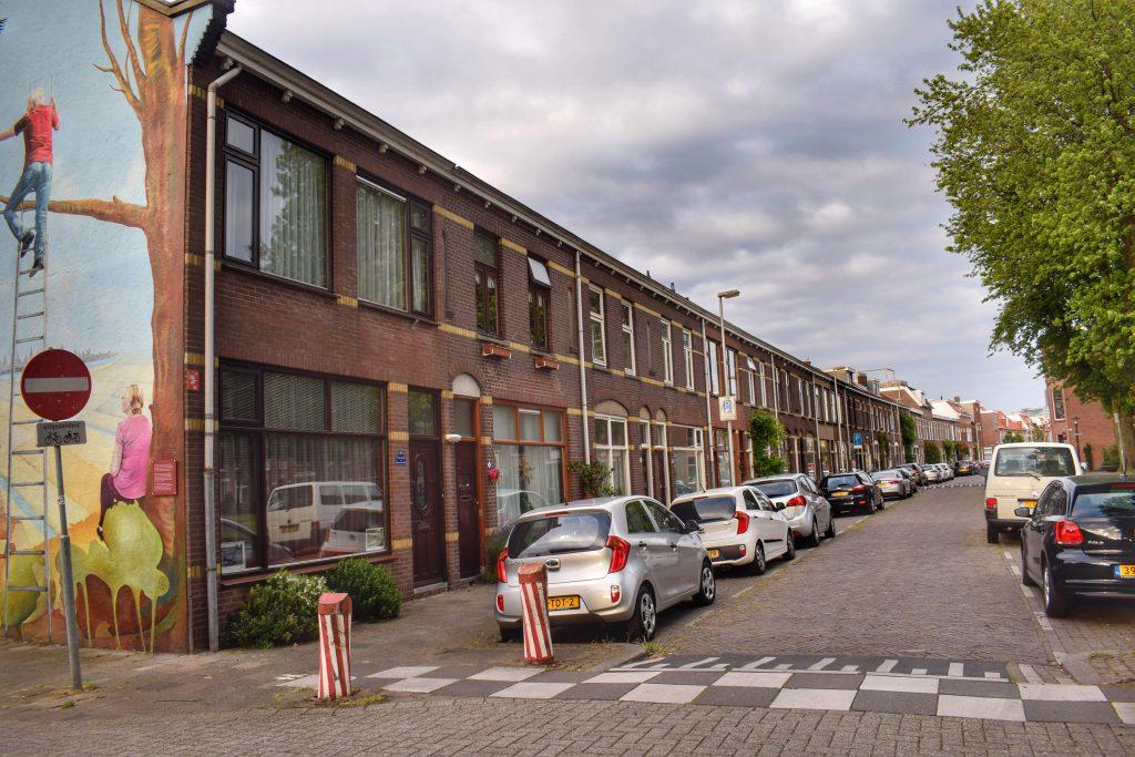 Straat in Utrechtse Wijk Nieuw Engeland naast H.J. Schimmelplein