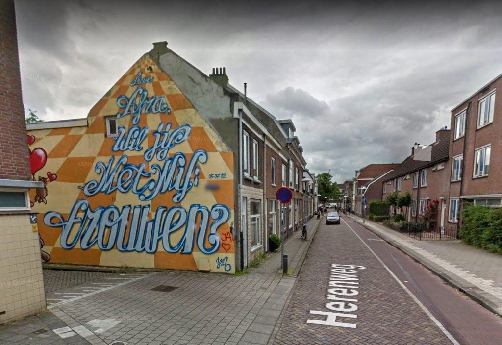 Street art - Herenweg Oudenoord vroeger