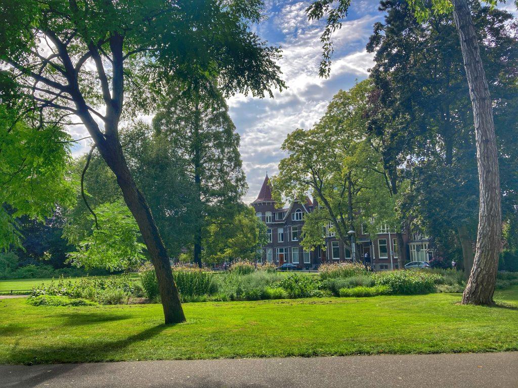 Wilhelminapark natuur en uitzicht op huizen