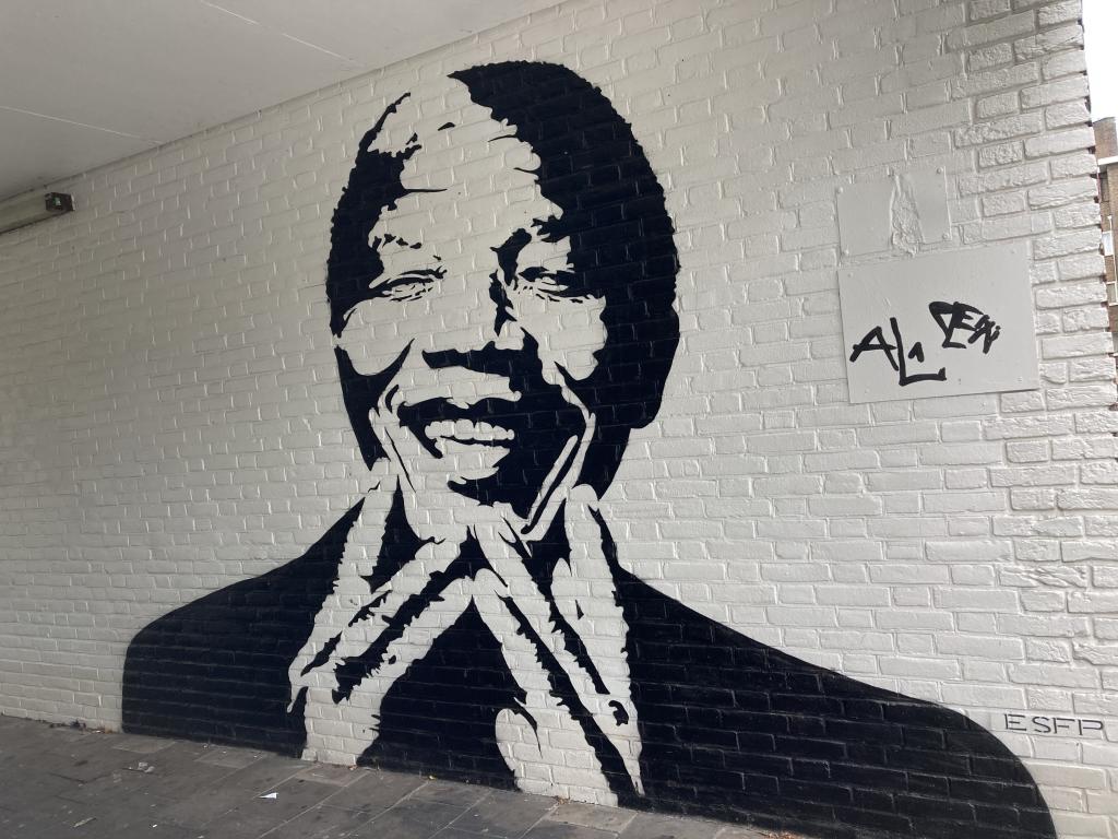 Street art in Utrecht Oost - Mandela