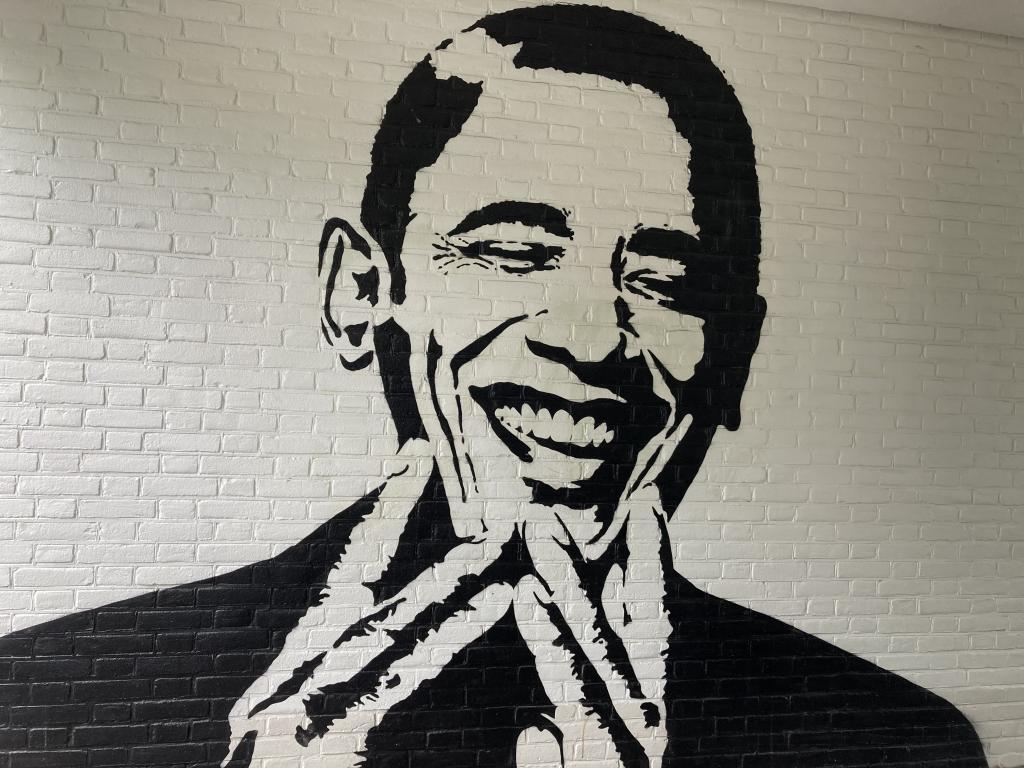 Street art in Utrecht Oost - Obama - ESFP
